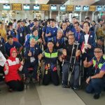 Seru, Kepulangan Atlet Asian Para Games Diiringi Flash Mob